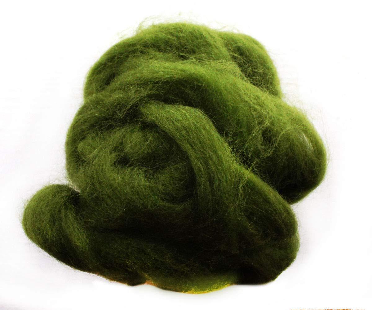 Jet Black 20g 4m Vegan Friendly Acrylic Wool for Needle Felting Spinning Knitting DIY Crafts
