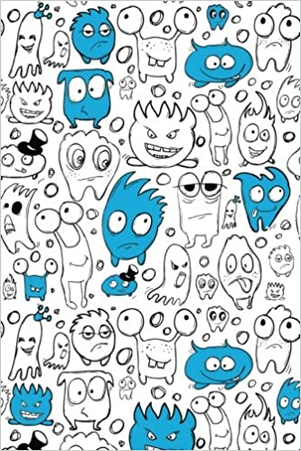 Amazon com: Sketch Journal: Little Monsters (Blue) 6x9 - Pages are