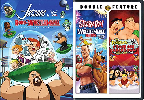 oo Jetsons / Flintstones Wrestlemania Mystery Smackdown DVD 3 Pack Robo-WrestleMania Original Animated Wrestling Triple Feature Movies Hanna-Barbera ()