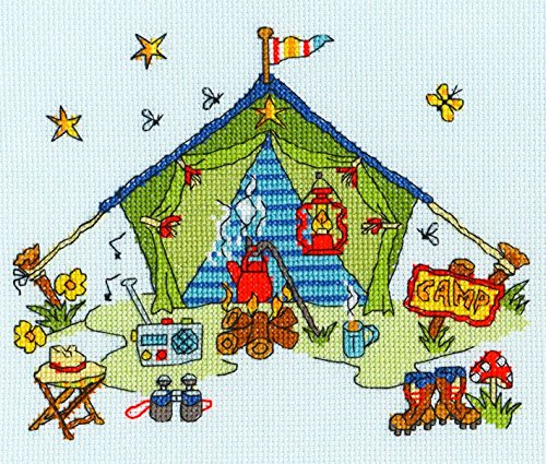 Bothy Threads Sew Dinky Tent Cross Stitch Kit by Bothy Threads