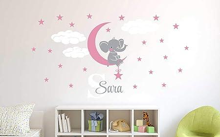 Elephant Wall Decal Name Wall Decal Baby Room Decor Nursery Wall Decal Elephant Nursery Wall Art Custom Name Wall Decal