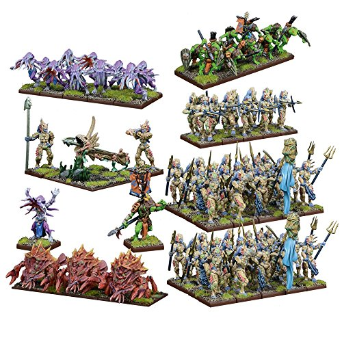 Kings of War Trident Realm Of Neritica Mega Army Box by Mantic (Image #1)