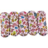 [Extra 20% OFF Ony This Week] Wegreeco Bamboo Reusable Sanitary Pads - Cloth Sanitary Pads - Pack of 5 (Small, Lovely Bird)