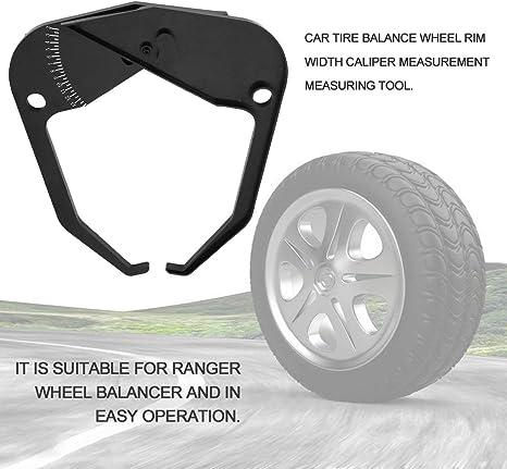 Balance Instrument Ranger Roue Equilibreuse De Pneumatique Largeur De Calibre Outil De Mesure Equipement D/équilibrage des Pneus Machine Accessoires Noir
