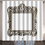 SOCOMIMI Room Curtain an ornate antique picture frame on a white background