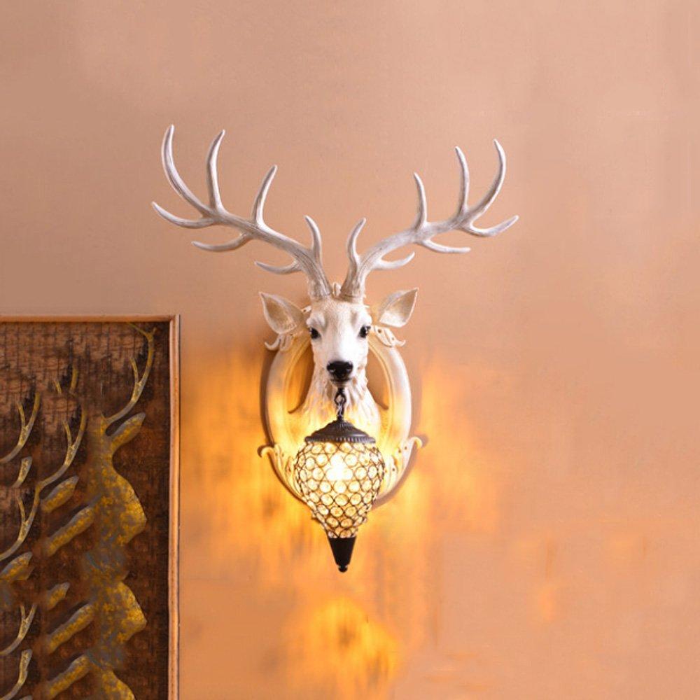 Applique Lampada da Parete in Stile Moderno Soggiorno Europeo LED Cristallo corridoio Camera da Letto Comodino TV Sfondo Muro Lampada Imitazione Marmo