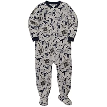 9f0ccc6809 Image Unavailable. Image not available for. Color  Carter s Big Boys   quot Football quot  Fleece Footed Blanket Sleeper Pajamas-Size 6 Kids