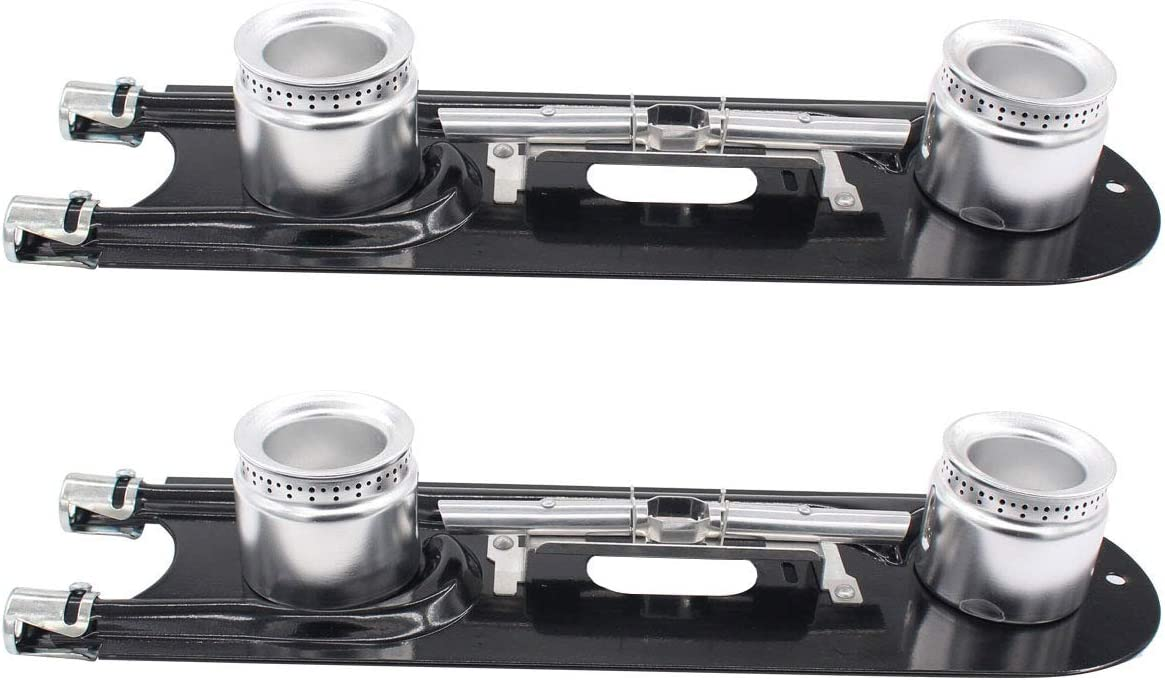 ApplianPar Pack of 2 3412A004-19 Top Double Gas Burner For Maytag Magic Chef AP5180469 W10124421 1430218 Y0300248