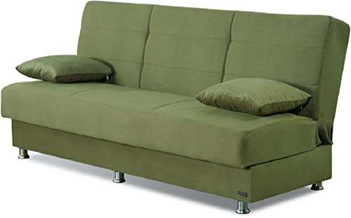 BEYAN Atlanta Collection Armless Modern Convertible Sofa Bed