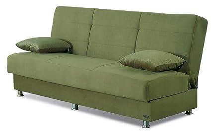 Amazon.com: BEYAN Atlanta Collection Armless Modern Convertible Sofa ...