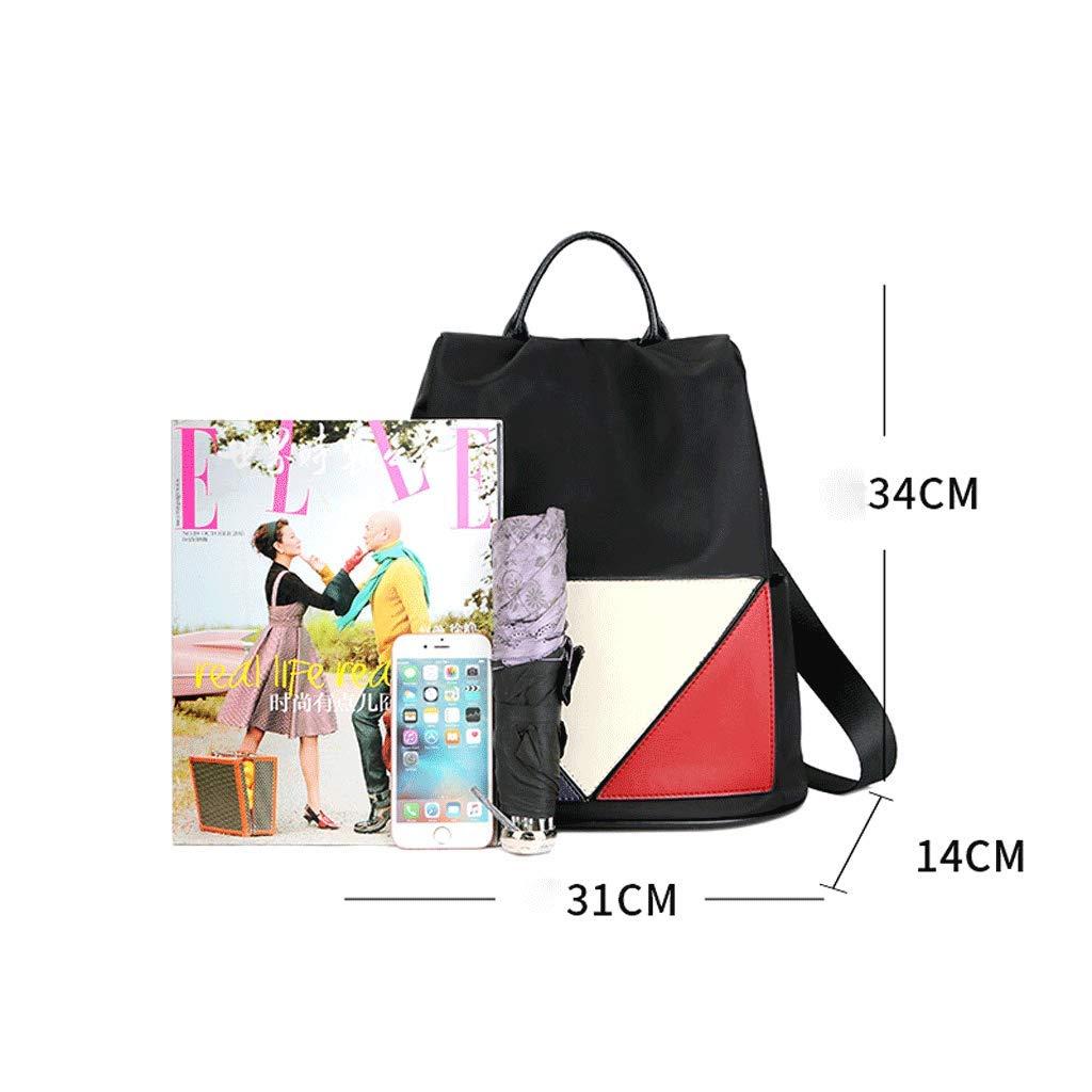 Color : Black SLH British Shoulder Bag Female Anti-Theft Bag Nylon College Wind Travel Backpack