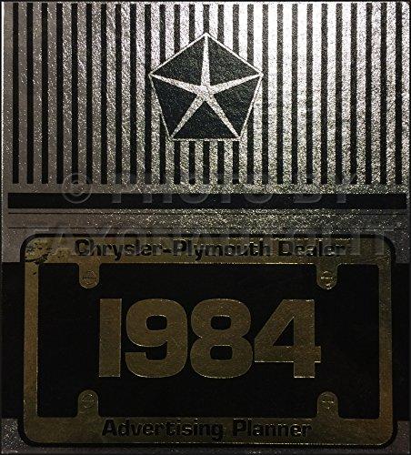 1984 Chrysler Plymouth Dealer Advertising Planner Original