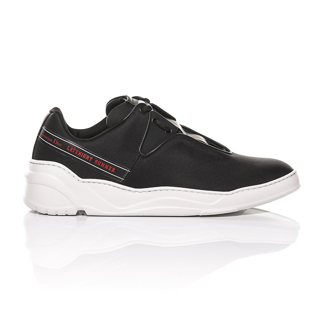 8d4f9b78e1c3 Dior Homme Black Nylon Canvas and Matt Black Calfskin Sneakers  Latenight  Summer  Detail (42 EU)  Amazon.co.uk  Shoes   Bags