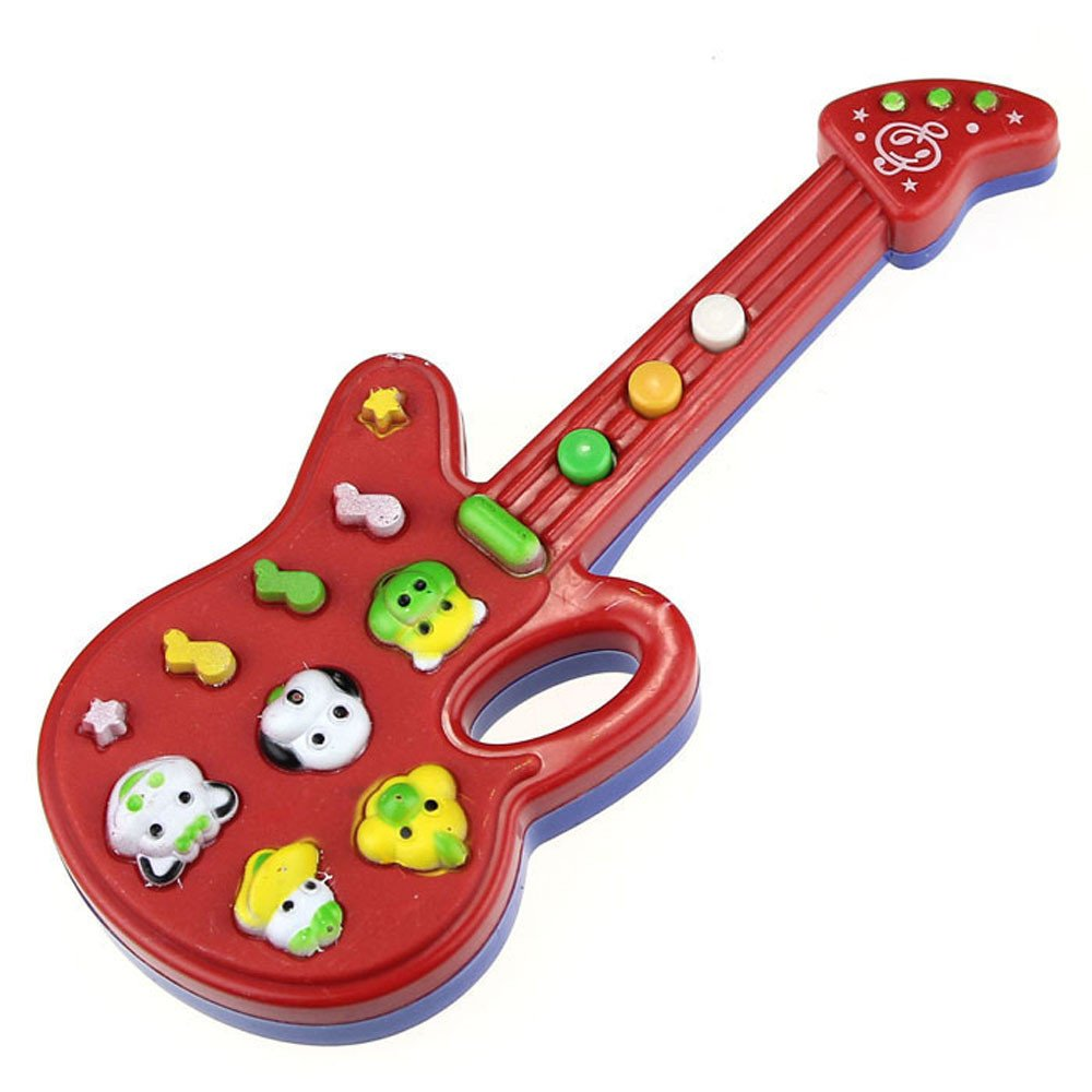 Wenini Electronic Guitar Toy - Music and Sound Guitar Toy Nursery Rhyme Music Children Baby Kids Gift (Multicolor) by Wenini (Image #1)