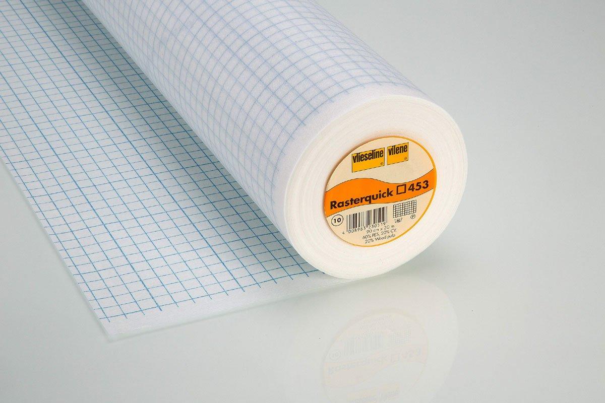 Griglia quick quadrilatero per Patchwork per cucire 90 cm bianco Freudenberg/Vlieseline Rasterquick Viereck