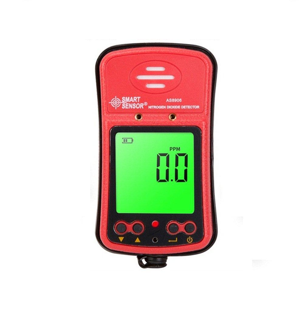 Handheld NO2 Gas Leak Detector 0-20PPM Portable LCD Display Rechargeable Li-Battery Powered Digital Nitrogen Dioxide Gas Monitor