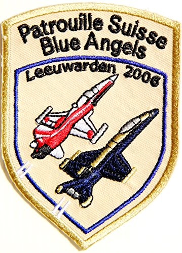 Patrouille Suisse Blue Angels Leeuwarden 2006 Air Force Team Army Military Pilot Logo Tab Jacket Uniform Patch Sew Iron on Embroidered Sign Badge Costume