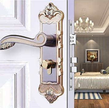 Aleación de aluminio interior europea Manija Kit pestillo puerta corredera hardware Cerradura mecánica de la puerta Mejoras para el hogar Cerraduras de hardware,A2: Amazon.es: Bricolaje y herramientas