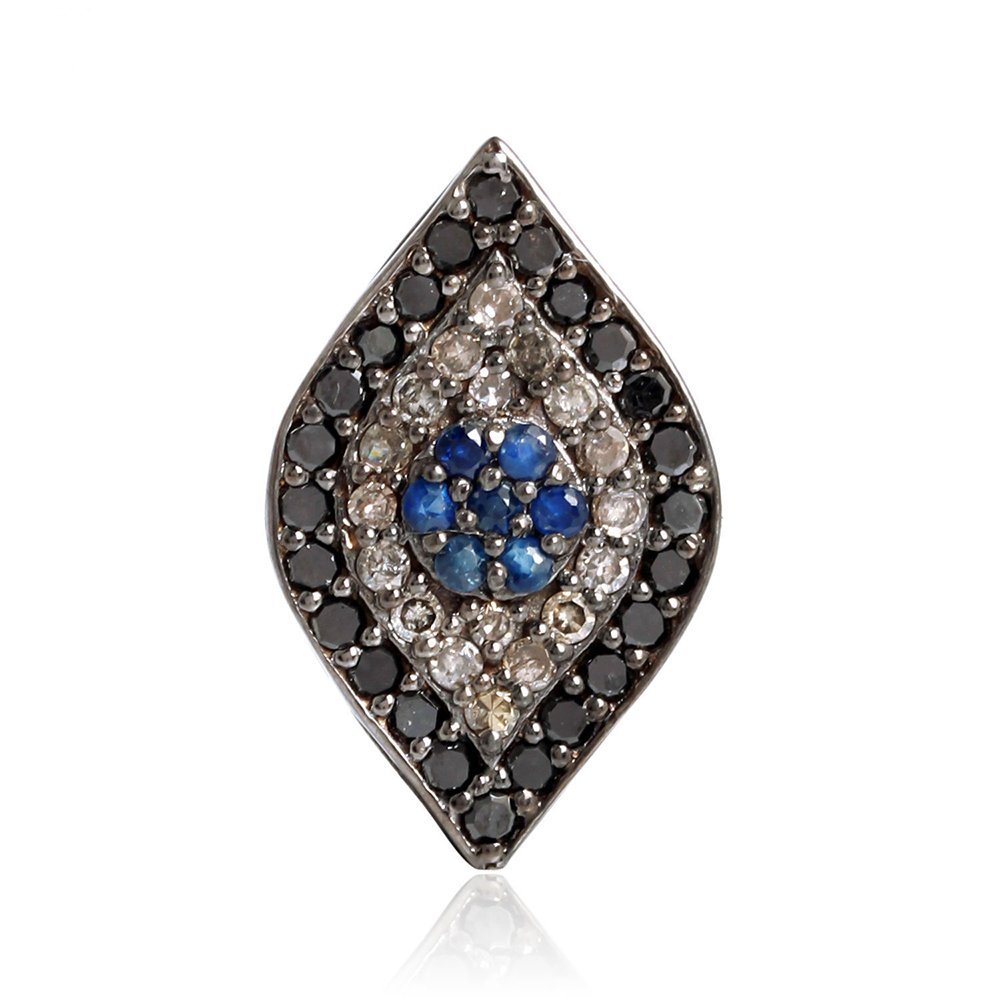 0.15 ct Sapphire Diamond 14kt Gold Silver Marquise Shape Spacer Finding Jewelry