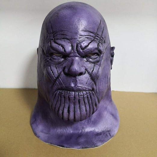 AKCHIUY Thanos Mask Endgame, Disfraz De Cosplay De Halloween ...