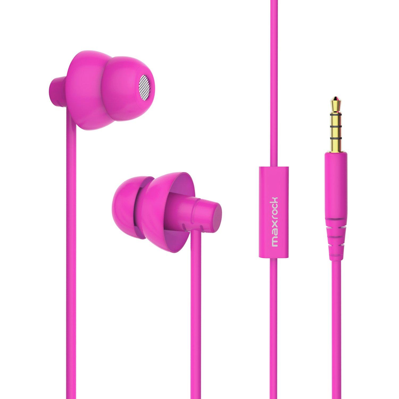 MAXROCK Noise Isolating Sleeping Headphones Earphones for Audiobook,Cellphones, Ipad and Audio Devices by MAXROCK