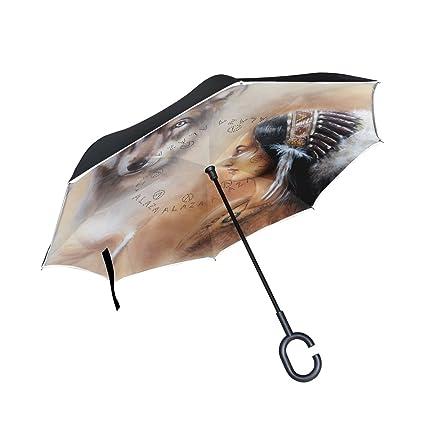 Paraguas invertido, isaoa reflexión stript Reverse paraguas a ...