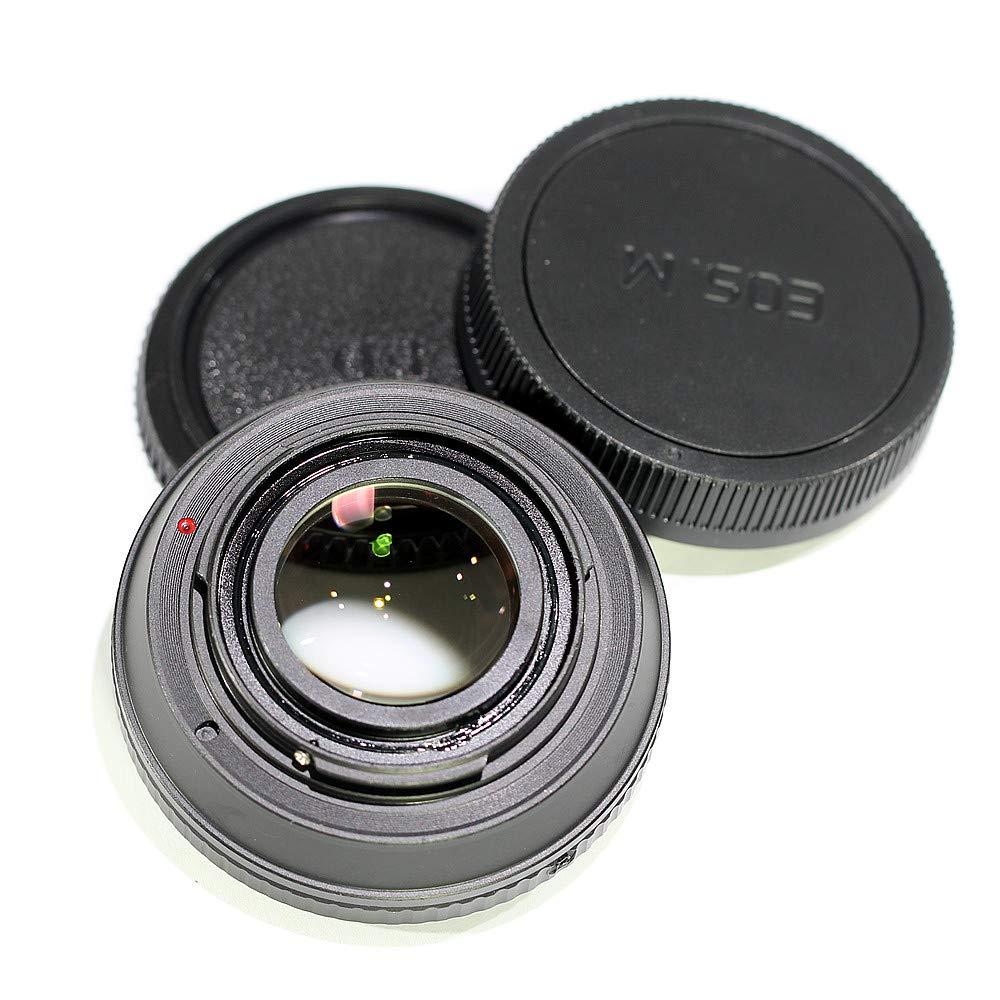 Pixco レンズアダプター フォーカスインフィニティフォーカルレデューサー スピードブースター 光学ガラス付き Canon FDレンズからEOS M M50 M6 M5 M10 M3 M2アダプターリング   B07QQ9Z678