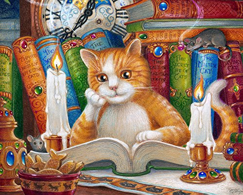 Literate Cat - Vermont Christmas Company The Literate Cat Jigsaw Puzzle 1000 Piece