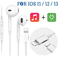 【2020 New Upgrade】Earbuds,iPhone Headphones/Earphones,Lighting Connector Earbuds Audio and Charging,Noise Isolating Headset with Mic & Volume Control,Support for iPhone 11 Pro Max/Xs Max/XR/X/7/8 Plus