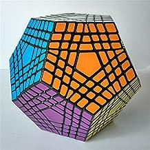 Leoie shengshou 7x7 Teraminx Cube Seven Layers Megaminx Dodecahedron Puzzle Cube Brain Teaser Magic Cube Black by Leoie