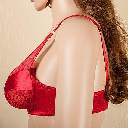 chiwanji Spezieller Taschen BH F/ür Boobs Silicone Breast Forms Brassiere Red