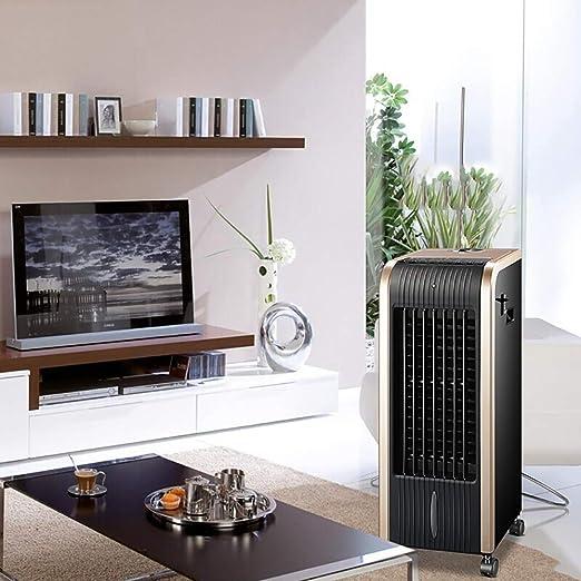 Air Cooler Enfriador de Aire 4 en 1, Calentador de Ventilador, purificador de Aire y humidificador Temporizador de 8 Horas y Control Remoto de Tanque de ...