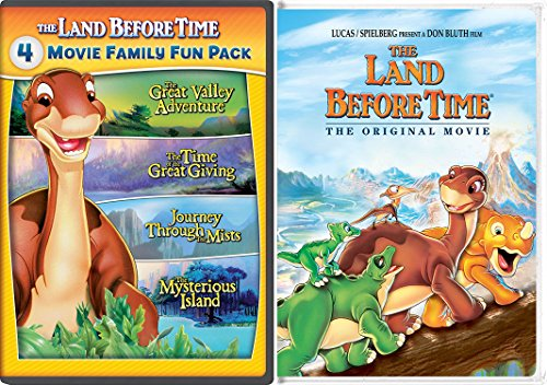Land Before Time & The Land Before Time II-V 5-Movie Family Fun Pack (The Great Valley Adventure / The Time of the Great Giving / Journey Through the Mists / The Mysterious Island) (The Land Before Time Invasion Of The Tinysauruses)