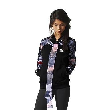 1edff59e0ea4 adidas Track Top - Kimono black white size  4 USA - 8 UK - S (Small)   Amazon.co.uk  Clothing