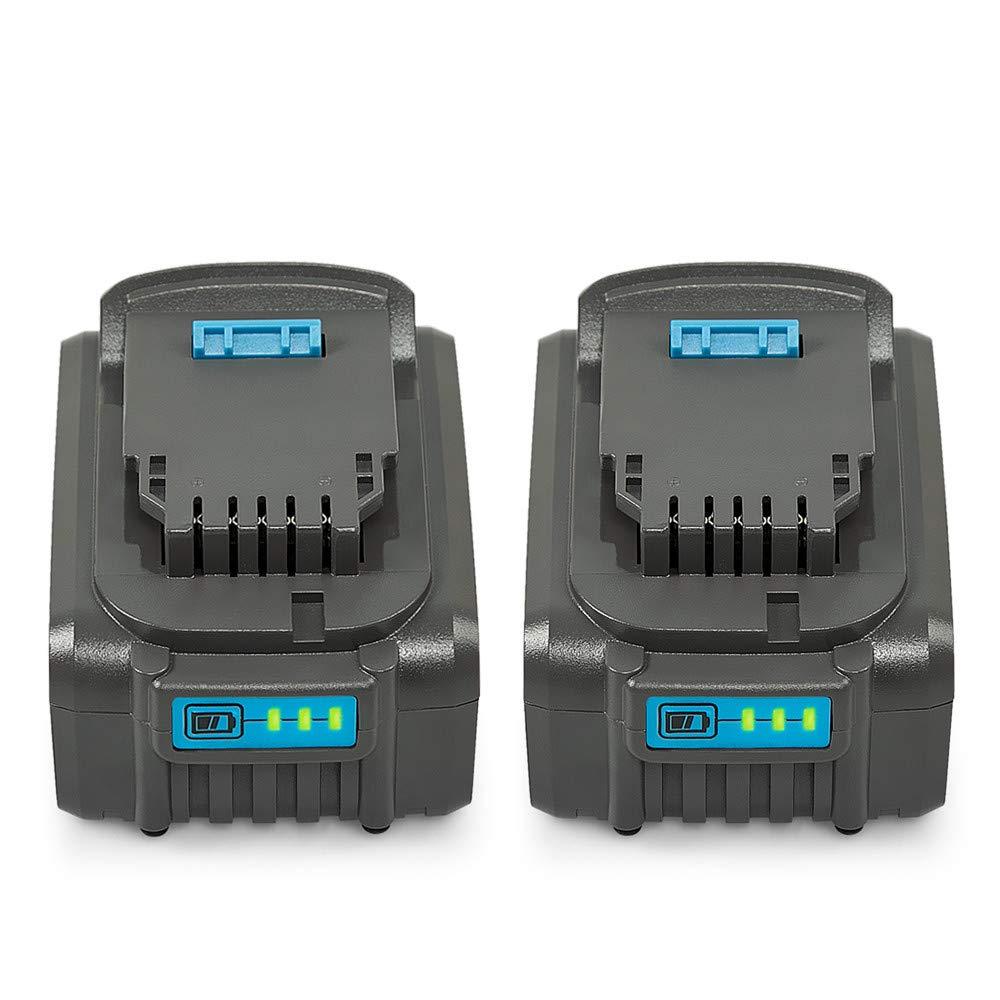 2 Pack 5.5Ah 20V Max XR Lithium Ion Replacement Battery Compatible with Dewalt XR DCB205 DCB205-2 DCB204 DCB203 DCB201 DCS380B DCD/DCF/DCG/DCS Series 20V Dewalt Battery