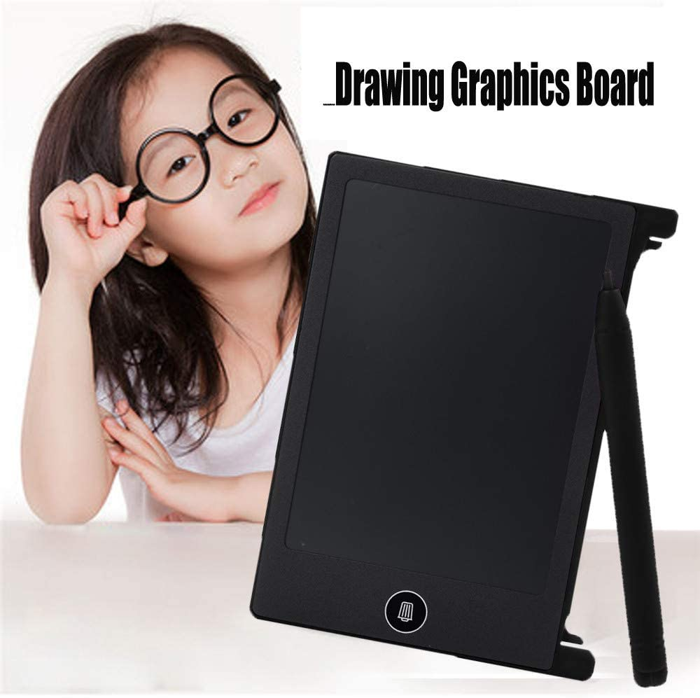 LCD Writing Tablet Electronic Drawing Doodle Boards for Kids Battery Operated Electric Digital Graphic Handwriting pad Children Doodling Board with Stylus paperless E-Writer 4.4 inch Black
