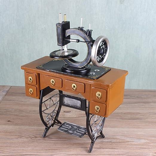 LIJUN Retro nostálgico Modelo de máquina de Coser Vintage Tienda ...