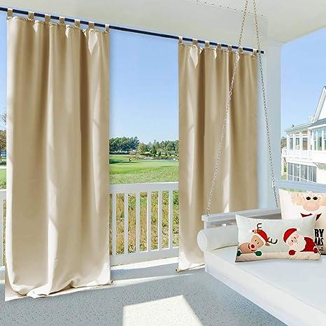 Clothink Agua Viento Outdoor Cortinas DKL Cortinas, mildiu Best Integrado, para cobertizos de jardín