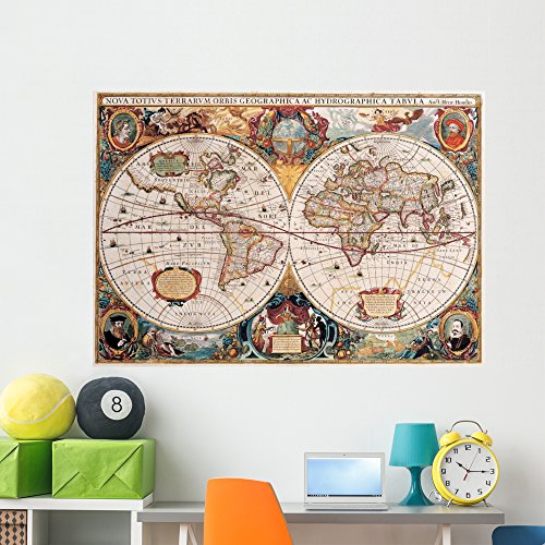 - Wallmonkeys Antique Map Henricus Hondius 1630 Wall Decal Peel and Stick Graphic WM216673 (60 in W x 42 in H)