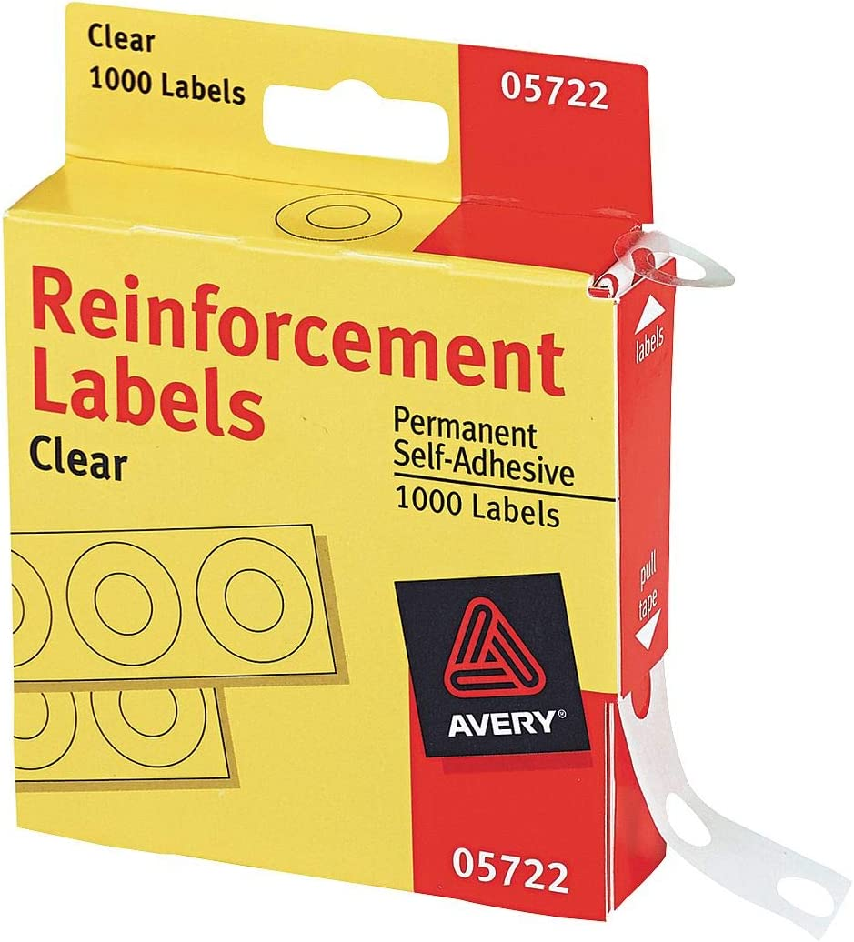 Avery(R) Self-Adhesive Reinforcements, Clear, Pack Of 1000