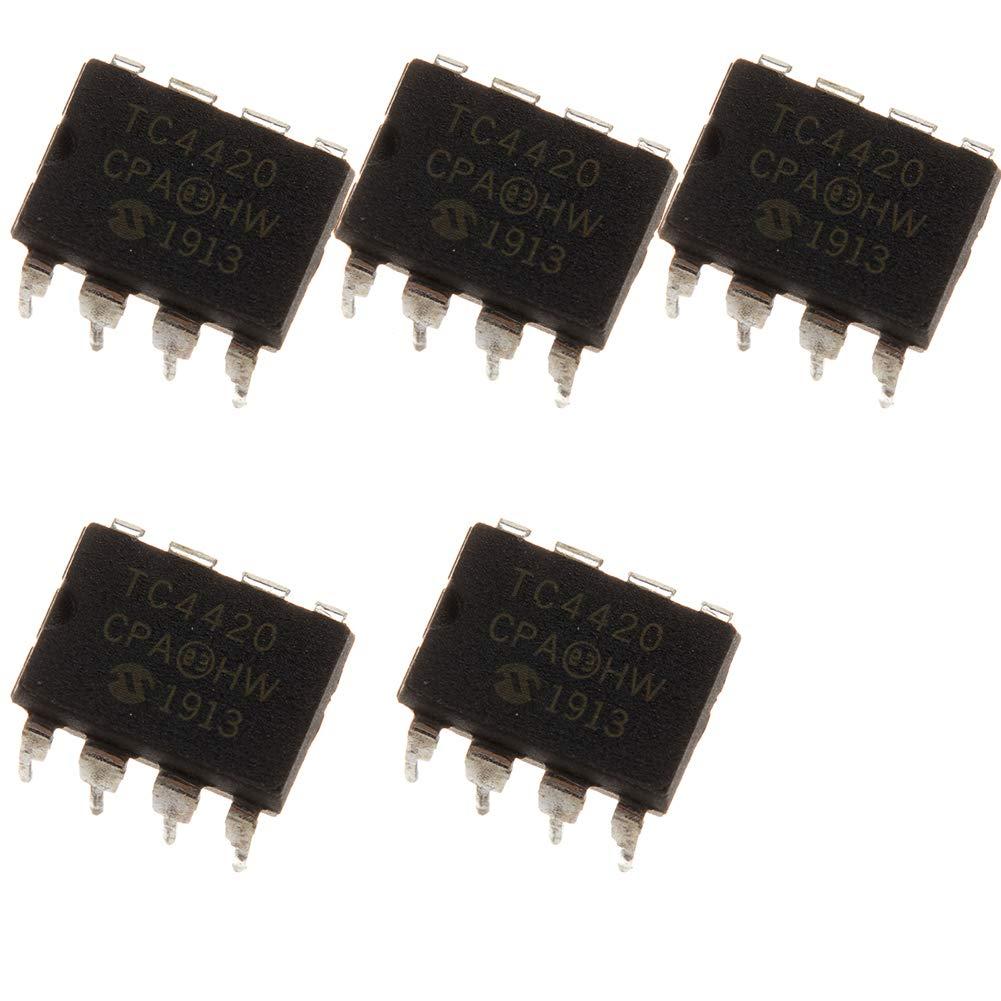 5pcs IC TC4420CPA TC4420 DIP8 MOSFET Drivers Ship//.