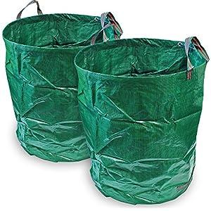 CampTeck 2x 500 Litres Garden Waste Bag Polypropylene Heavy Duty Reusable Garden Refuse Sack