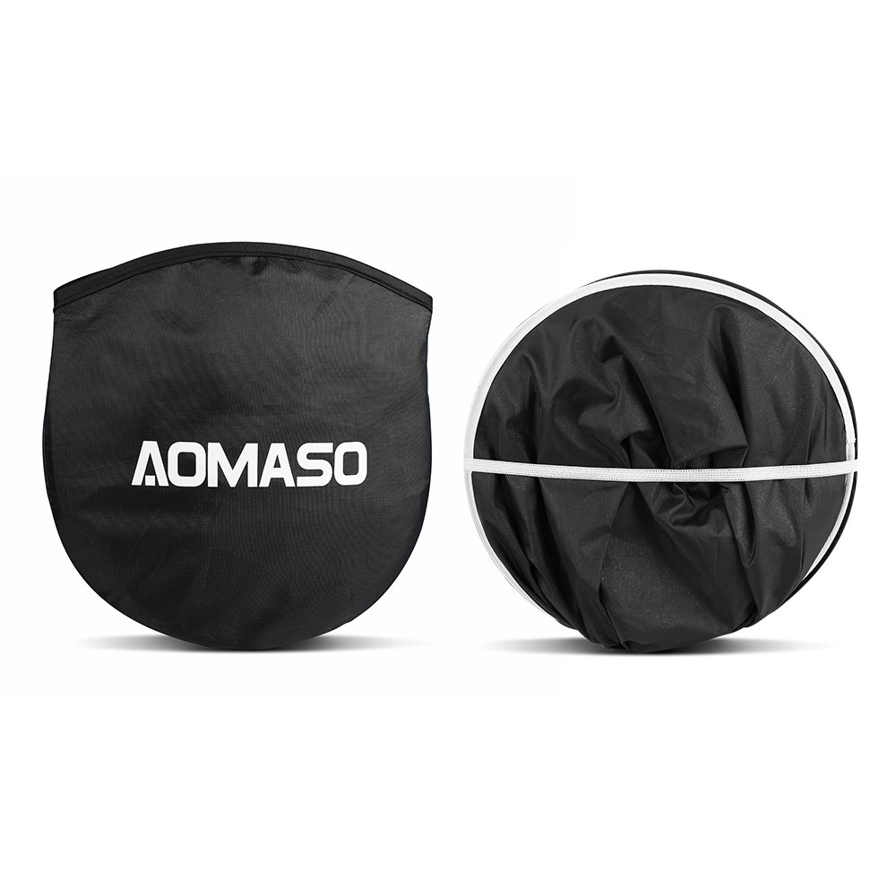 Aomaso Sommer Auto Sonnenschutz Sonnenblende Frontscheibe Windschutzscheibe UV-Schutz Sonnenschirm Nylon Silber