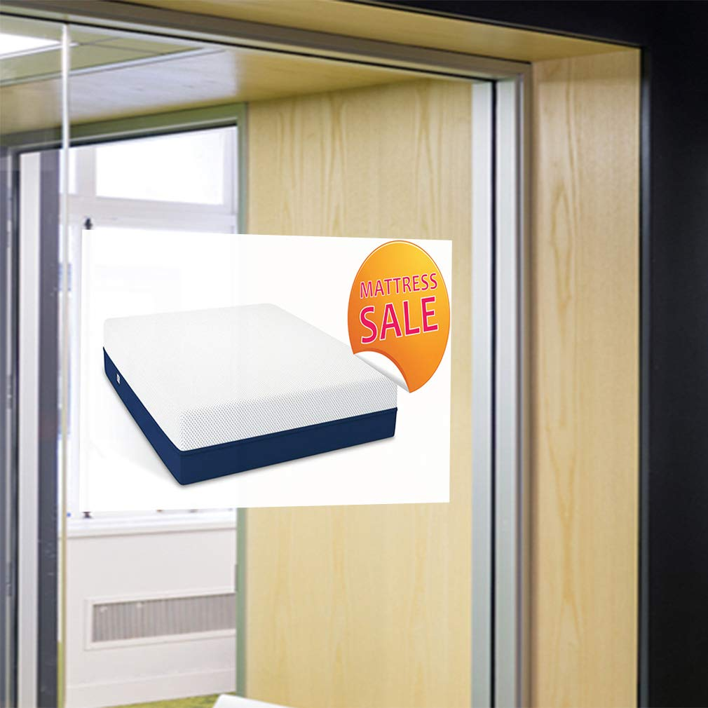 Set of 2 Decal Sticker Multiple Sizes Matters Sale Business Mattress Outdoor Store Sign White 52inx34in