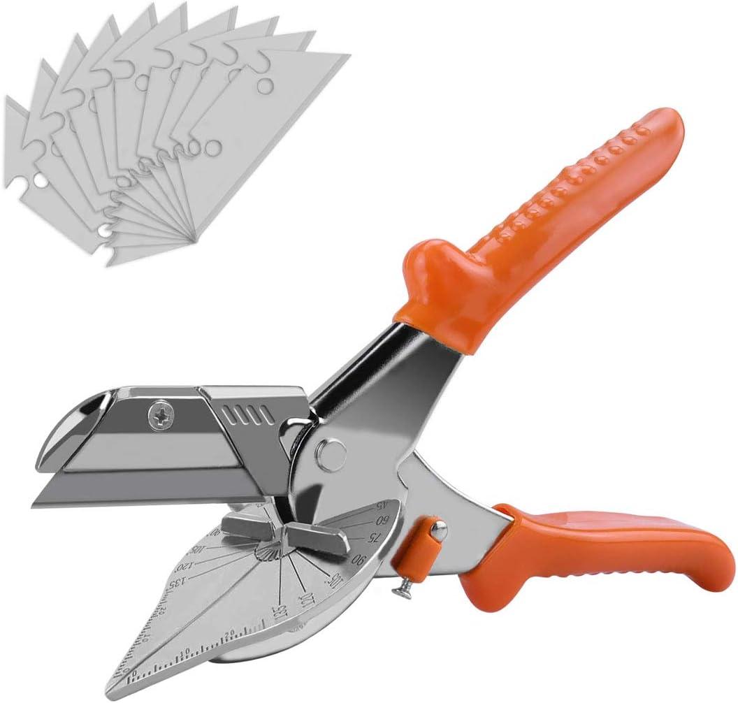 Multi Angle Miter Shear Cutter Hand Shears Multi Purpose Trim Shears Hand Tools,