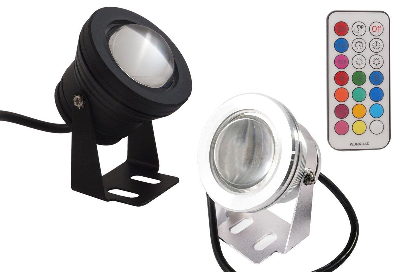 SPOT LED RGB SOUS-MARIN PISCINE FONTAINE COULEURS ÉTANCHE PROJECTEUR LAMPE 10W LAMPRGB