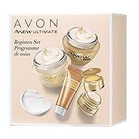 Avon ANEW Ultimate Regimen Set 4 Pcs. full size Day, Night and Eye (.24 oz.Power...