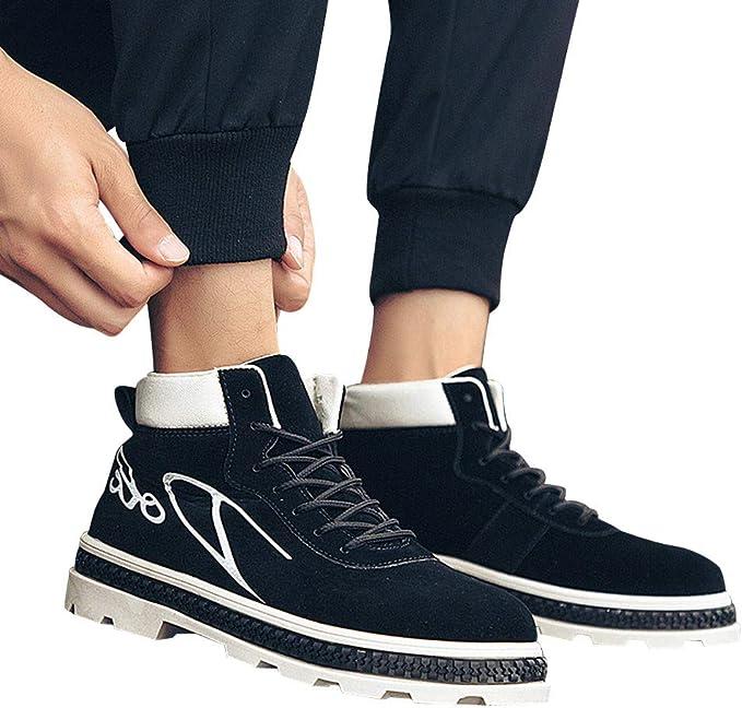 Amazon.com: Zapatillas de cordones para hombre, ligeras, de ...