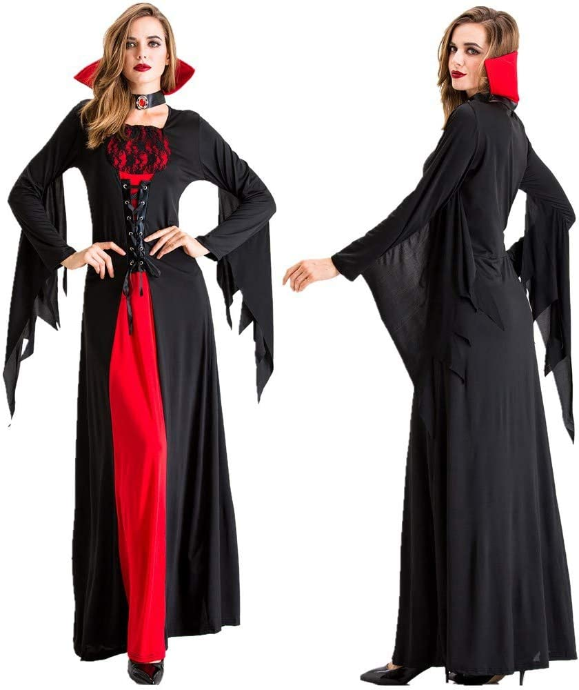 JIANG BREEZE Disfraz de Drácula Disfraz de Vampiro para Mujer ...