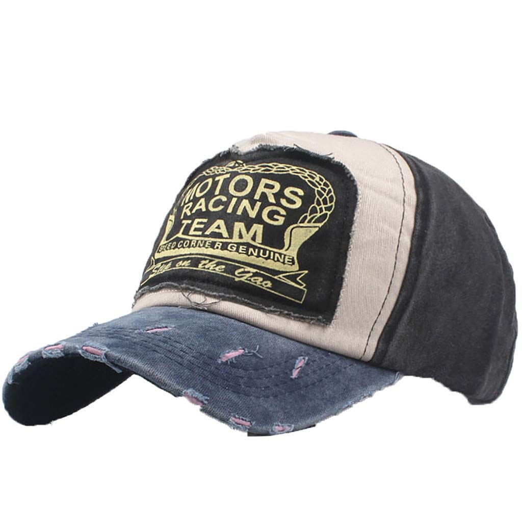 CofeeMo Unisex Washed Baseball Cap Eagle Eye Embroidery Cotton Hip-Hat Caps Adjustable Dad-Hat Denim Cap